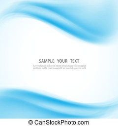 Vector abstract blue waves background - Abstract blue...