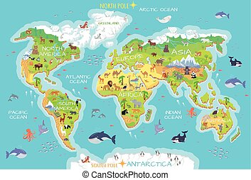 Animals and Where They Live. Our Planet. Earth. - World...