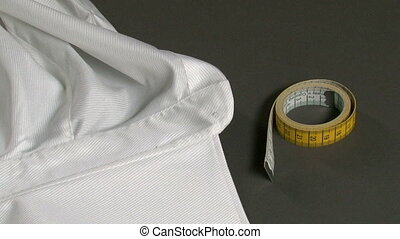 Tailor Measuring Man Shirt Collar - Tailor measuring...