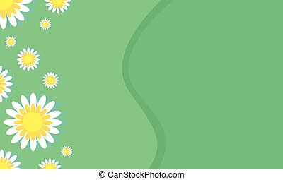 Vector art of spring background