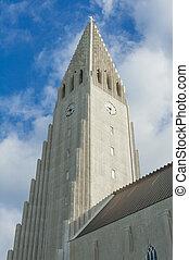 Hallgrimskirkja cathedral in Reykjavik - Detail of...