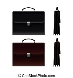 Black and Brown Business Briefcase Bag.