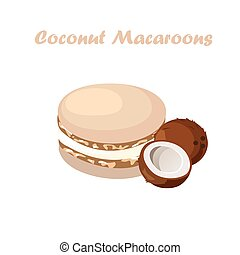 tasty macaroon cookie
