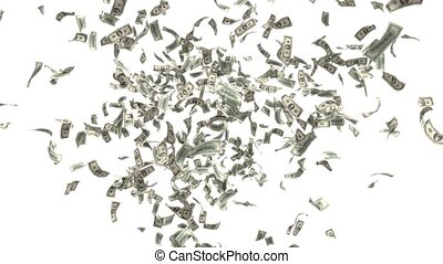 Money Falling Dollars Financial Win US USA American Currency Tax Make It Rain