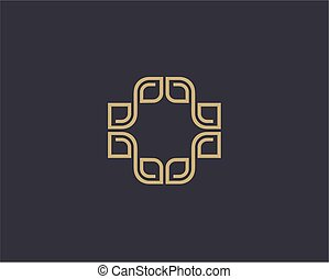Vector abstract luxury logo design template.