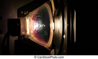 8mm projector with light bulb