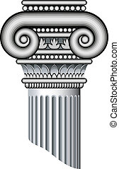 Ionic columns. Vector over white, EPS 8, AI, JPEG