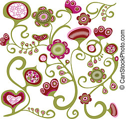 Exotic floral pattern - Exotic floral wallpaper pattern