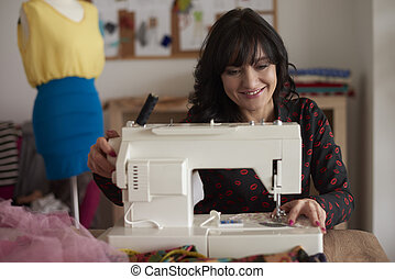 Sewing is her big passion