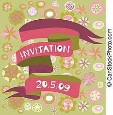 Retro invitation card