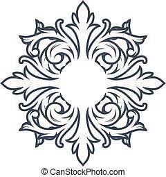 Decorative monogram design element