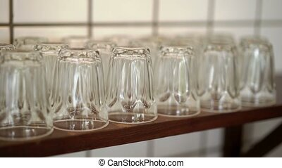 Woman taking glass in buffet at resort