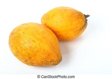 Canistel, Egg fruit, Tiesa fruit on white - Ripe of...