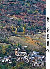 Autumn colors in the mountain village