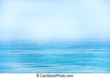 Calm blue sea and clear sky as nature background