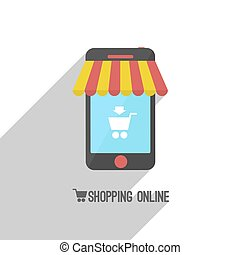 shopping on-line. smart-phone