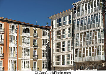 Burgos (Spain): facade of historic buildings