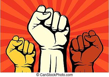 Protest, rebel vector revolution art poster for freedom,...
