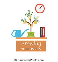 Growing your assets business concept