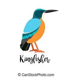 Exotic tropical kingbisher bird - Exotic tropical bird...
