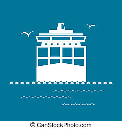 Cargo Container Ship - Front View of the Cargo Container...