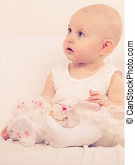 Little girl child portrait - Happy childhood. Lovely little...