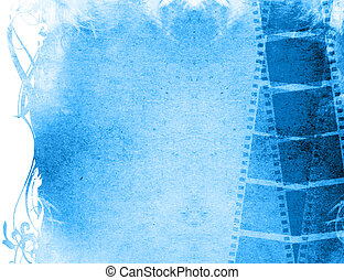 Great film strip backgrounds frame with space