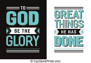 To God Be the Glory Great things He has Done Gospel Hymn...