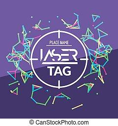 Laser tag target game poster flyer. Vector lasertag banner...