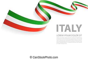 Vector Banner with Italian Flag colors - Vector Illustration...