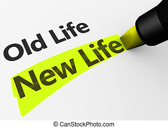 New Life Versus Old Life Concept - New lifestyle versus old...