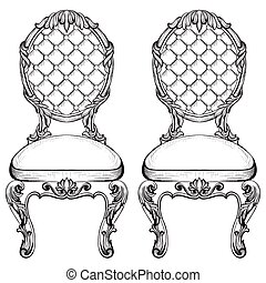 Exquisite Fabulous Imperial Baroque chairs in luxurious...
