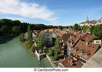 Berne - Cityscape of Berne, Switzerland. Beautiful old town.