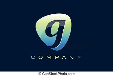 g Letter Logo. Oval Shape Modern Design with Glossy Look.