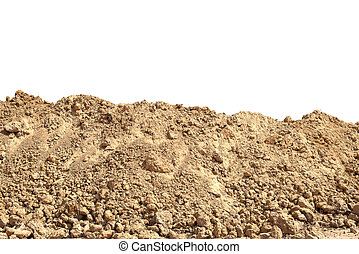 pile Soil or dirt isolated on white background