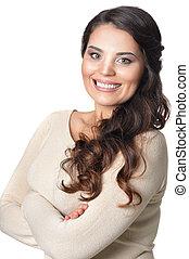 beautiful brunette woman - Portrait of a beautiful brunette...