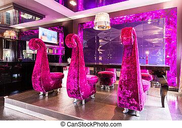 chaises, extraordinaire, intérieur, peluche, mode