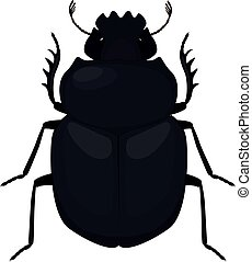 Scarab icon. Simple illustration of scarab black beetle...