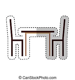 dinner table isolated icon vector illustration design
