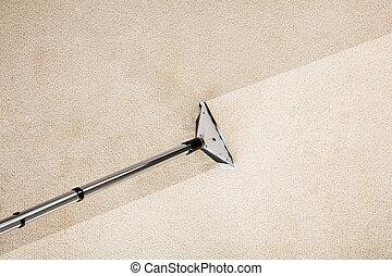 Vacuum Cleaner With Carpet - Close-up Photo Of Vacuum...