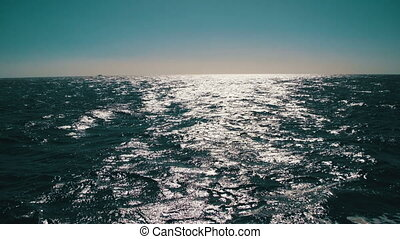 Bright Reflection on the Sea Surface in Moving - Bright...