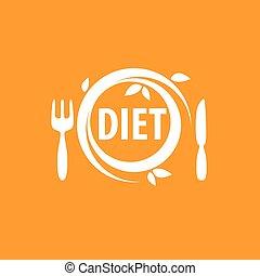 vector logo for diet - logo design template for diet. Vector...