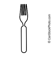 cutlery kitchen tool icon