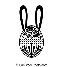 egg paint easter season vector illustration design