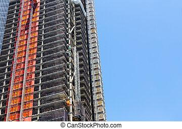 indústria, construção, arranha-céu