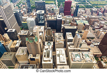Chicago downtown in the morning, Illinois USA