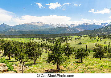 Rocky Mountain National Park panoramic view - Landscape of...