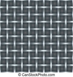 Seamless metal square cell grill  industrial background.