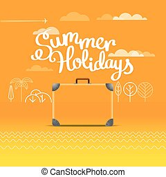 Travel bag vector illustration. Summer holidays concept