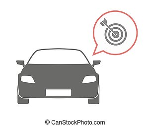 Isolated car with a dart board - Illustration of an isolated...
